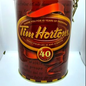 Vintage Tim Horton coffee container
